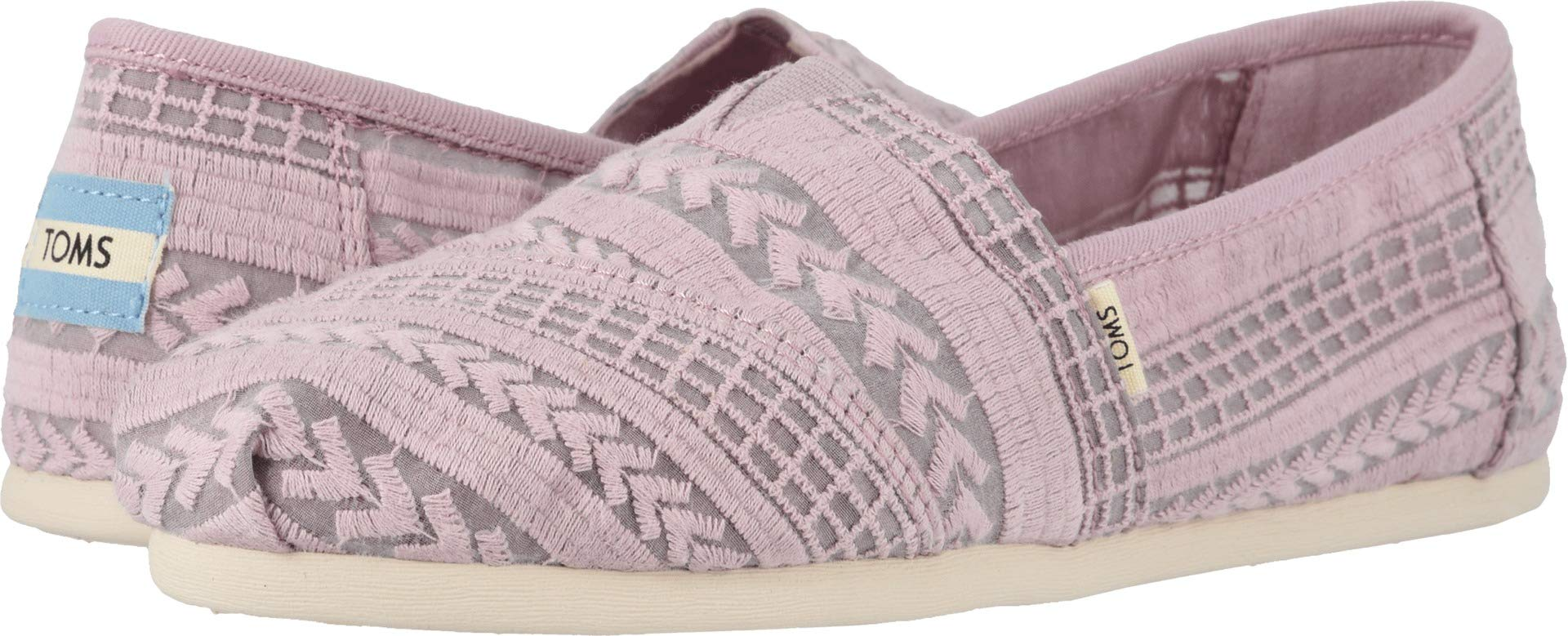 TOMS Womens Alpargata Burnished Lilac Arrow Embroidered Mesh 5