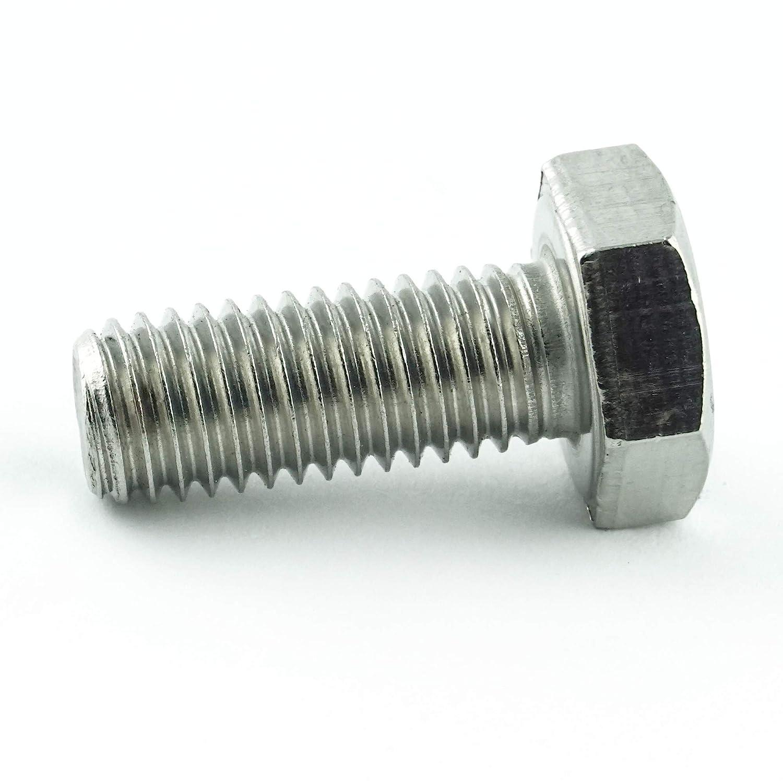 Edelstahl A2 V2A Gewindeschrauben rostfrei 10 St/ück Sechskantschrauben mit Gewinde bis Kopf M12 x 120 mm Vollgewinde Eisenwaren2000 ISO 4017 Sechskant Schrauben - DIN 933