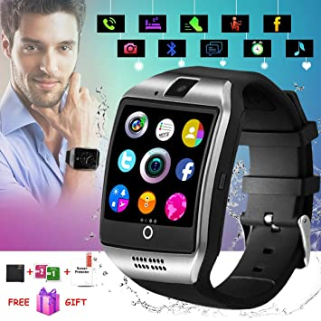 Smartwatch con Whatsapp,Bluetooth Smart Watch Pantalla táctil,Reloj Inteligente Hombre,Reloj Smartwatch