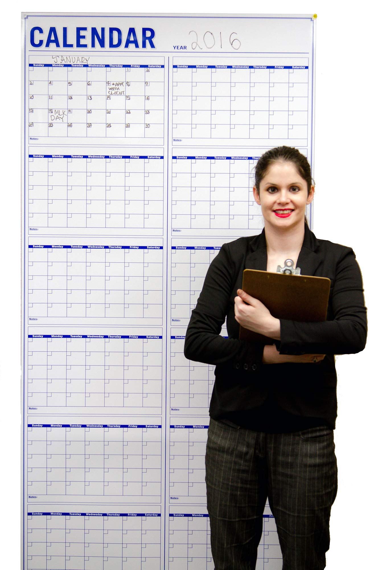 Large Dry Erase Wall Calendar -72 x36 Inch Vertical Jumbo Wet Erase Laminated 12 Month Planning Calendar - Calendars for Academic and Office Project Goals - Erasable Fiscal Year Wall Planner by Oversize Planner by ABI Digital Solutions