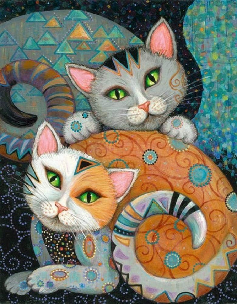 Puzzle 1000 Piezas Resumen 2 Gatos Puzzle Clásico Rompecabezas ...