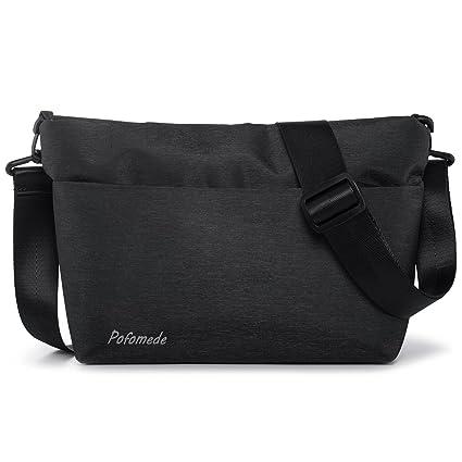 94b718f137ad1 Borsa a Tracolla Uomo Borsello Piccolo Impermeabile Messenger Bag Casual  Borse a Spalla in Oxford Messaggero Sacchetto con Multi Tasca per Viaggi  Sport ...
