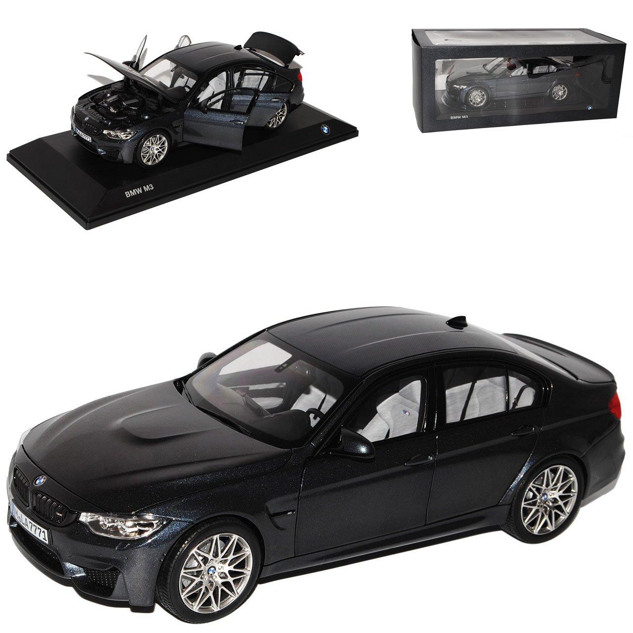 Norev BMW 3er M3 F80 Limousine Mineral Grau Schwarz Generation F30 Ab 2011 1/18 Modell Auto