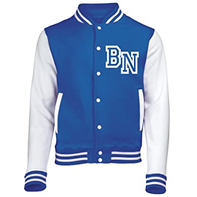 KIDS FRONT INITIAL STEP PERSONALISATION VARSITY JACKET (Royal Blue ...