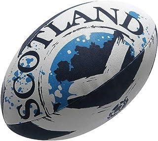 Gilbert Ecosse drapeau ballon de rugby [BLANC / MARINE]