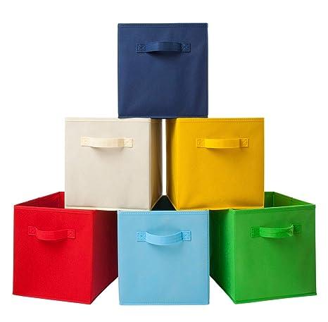 Homelife 6 Stück Faltbare Aufbewahrungsbox Organizer Cube ...