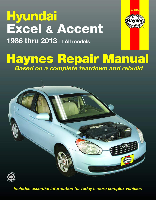 SHOP MANUAL ACCENT SERVICE REPAIR HYUNDAI BOOK HAYNES CHILTON
