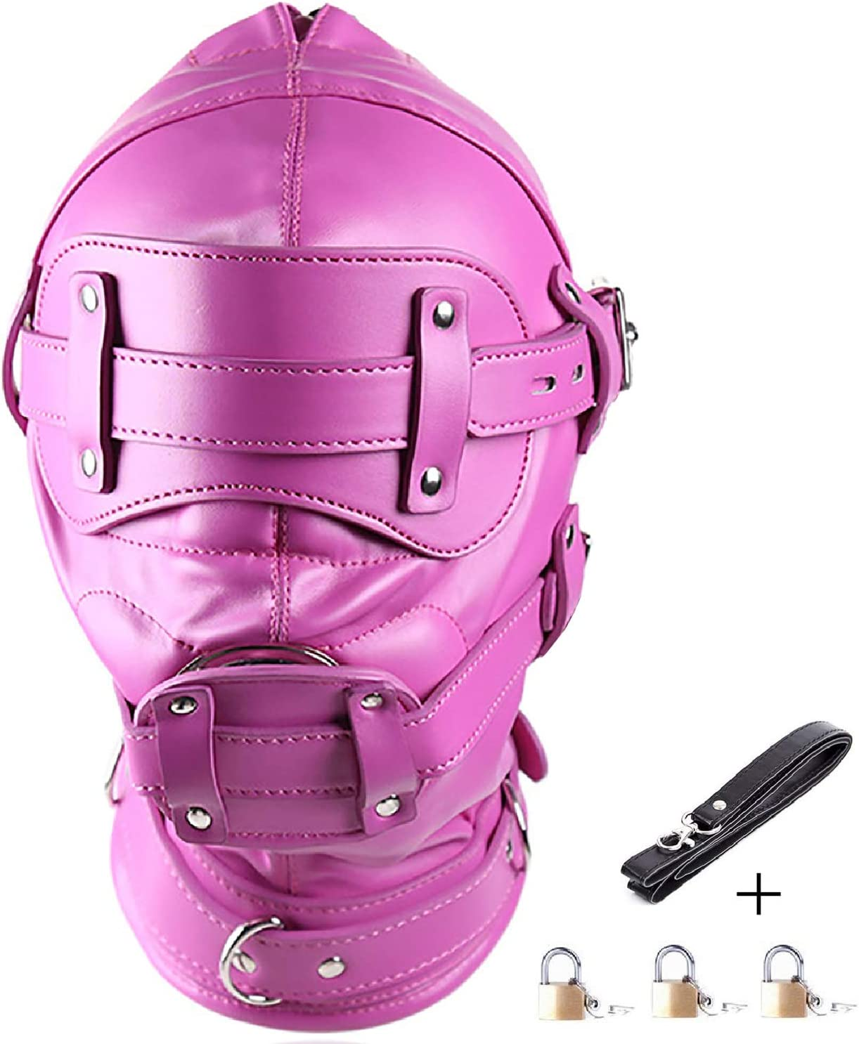 Strict Head Harness with inch Ball Gag Mask Bondage Synthetic Leather Muzzle NEW
