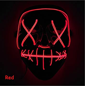 SunRlity Máscara de Halloween LED Enciende la máscara de Purga ...