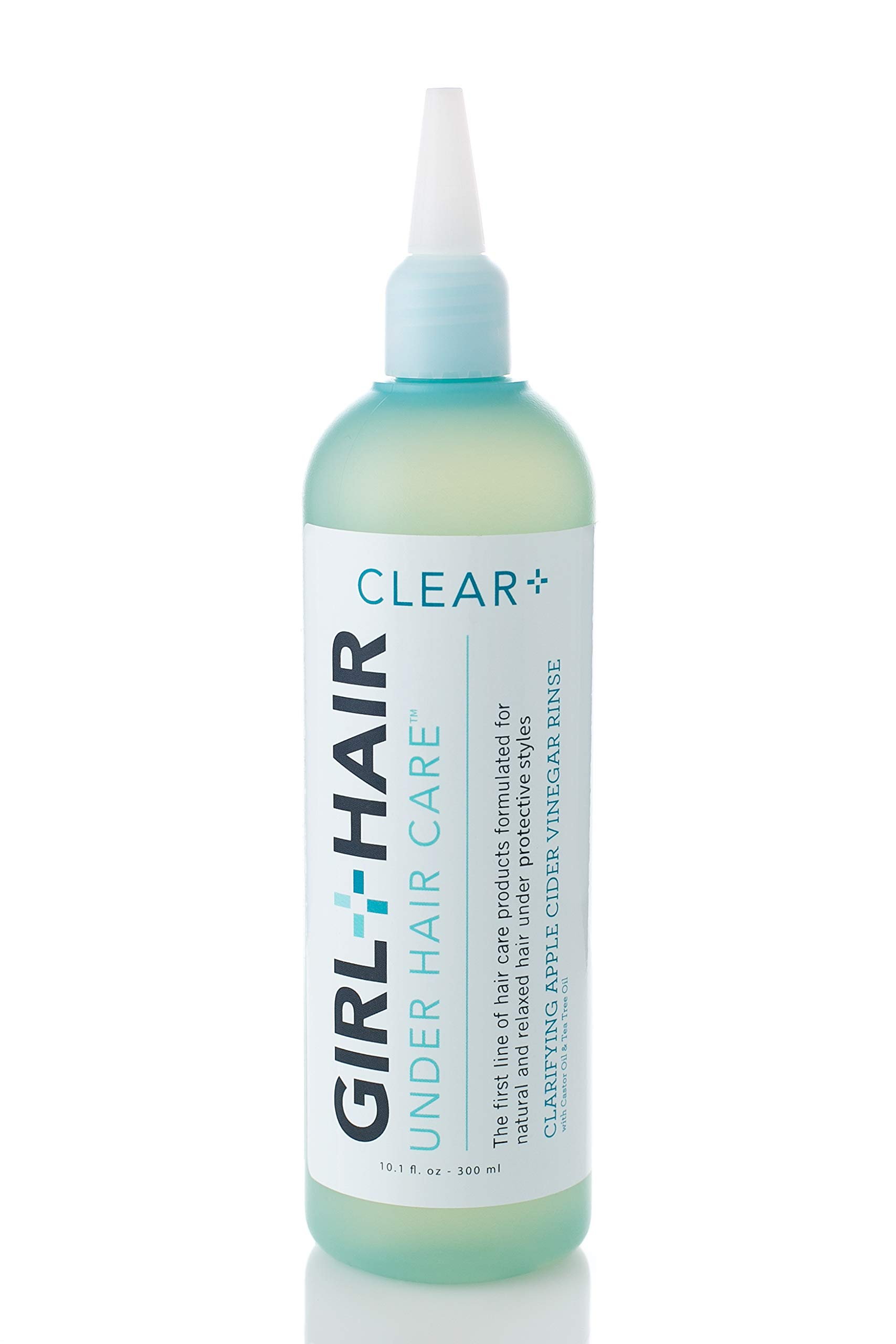 Girl+Hair Natural Hair Products, Clear Plus Apple Cider Vinegar Clarifying Hair Rinse, with ACV & Rice Water, 10.1 fl.oz./300 ml by GIRL+HAIR