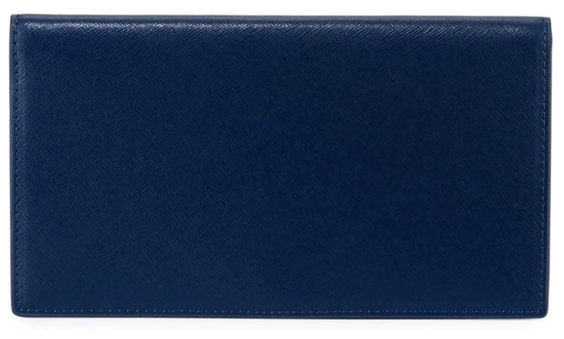 Neiman Marcus Slim Leather Bi-Fold Wallet