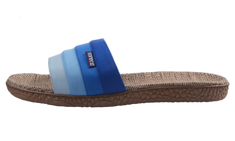 UIESUN Mens Hemp Gradient Stripe Slipper 8.5-9 US=270mm, Blue