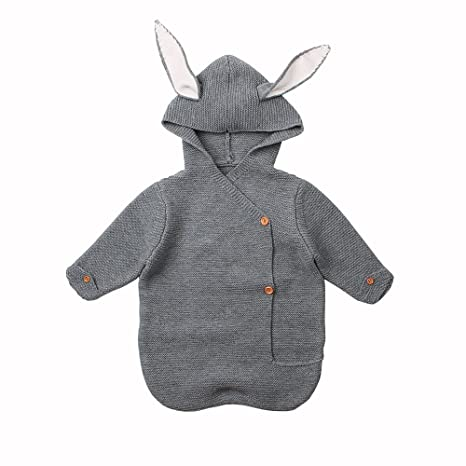 MiMiMiXiong - Saco de dormir para bebé recién nacido, manta de punto para bebé gris