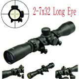 PROSUPPLIES @ FIELD SPORT® Long Eye Relief Scout Scope 2-7X32 w/ weaver Scope Rings
