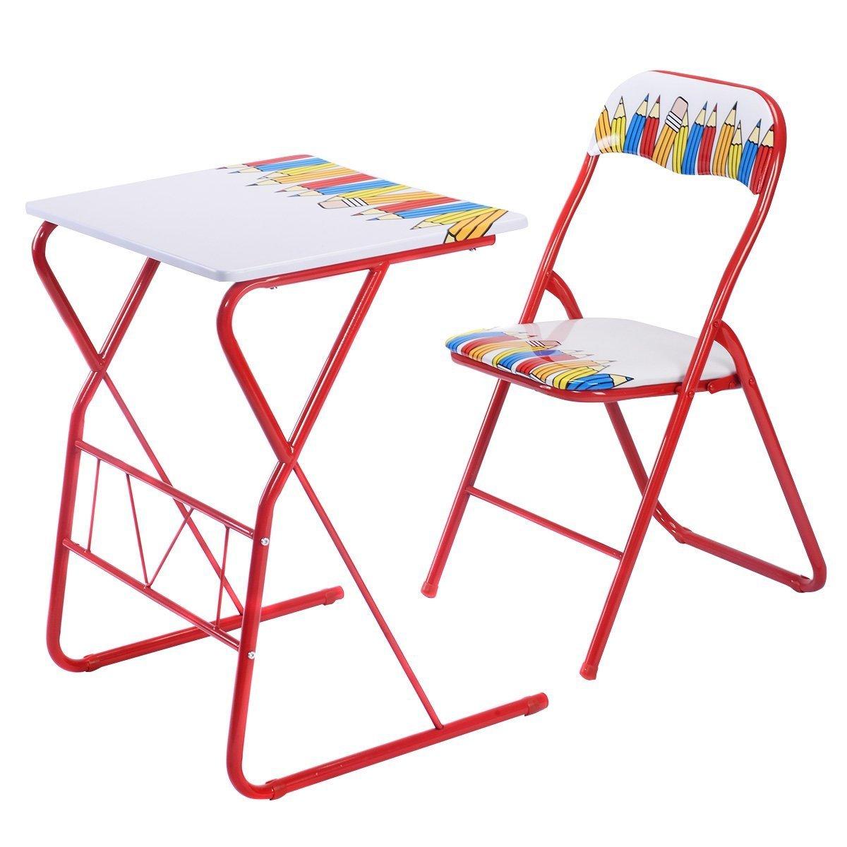 Amazon Giantex Table Chairs Set Kids Study Writing Lovely