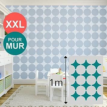 Pochoir XL Géant Mural 100 X 70 Cm   Formes Géométriques / Cercle   Pour  Peinture