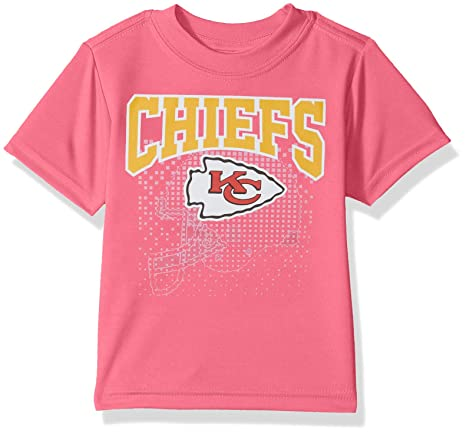 competitive price 14e56 20143 NFL Kansas City Chiefs Baby-Girls Short-Sleeve Tee, Pink, 18 Months