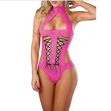 13d2ba6b6eba Reedbler New Hot New Women Sexy Intimates Lace Open Bra Sleepwear Underwear  Set Lingerie Babydoll Black