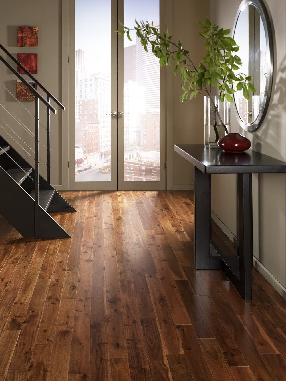 Acacia Walnut Solid Prefinished Hardwood Wood Floor Flooring