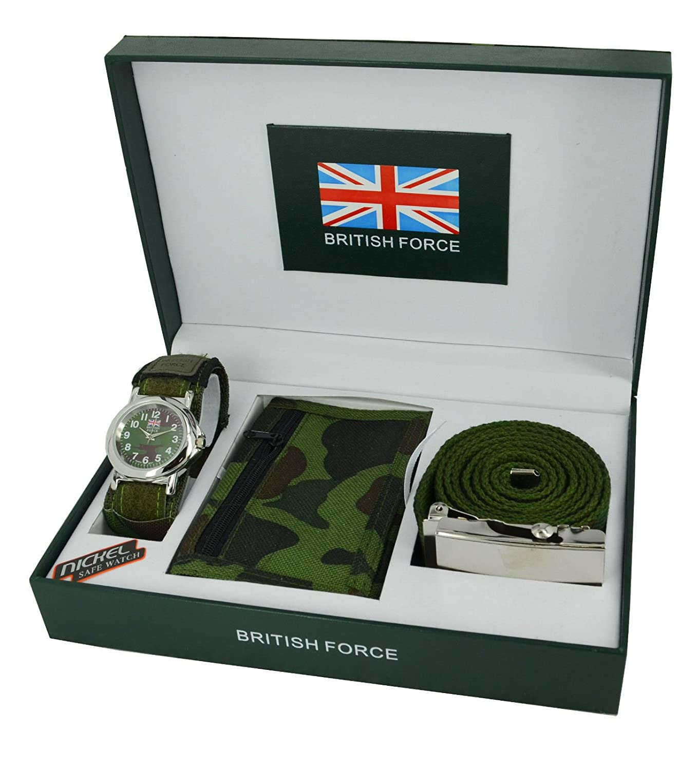 ARMY WATCH Gift Set for Men & Boys With Belt Wallet: Amazon.co.uk ...
