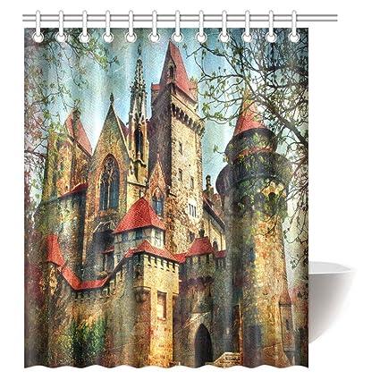 Amazon INTERESTPRINT Gothic Medieval Decor Shower Curtain