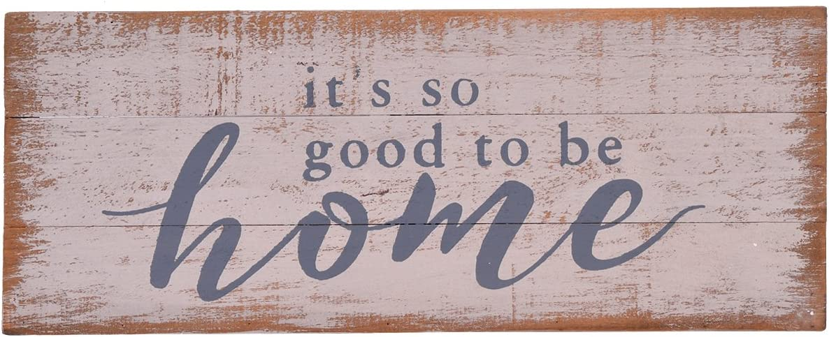 """NIKKY HOME 14"""" Wooden Box Sign, It's So Good to Be Home"""