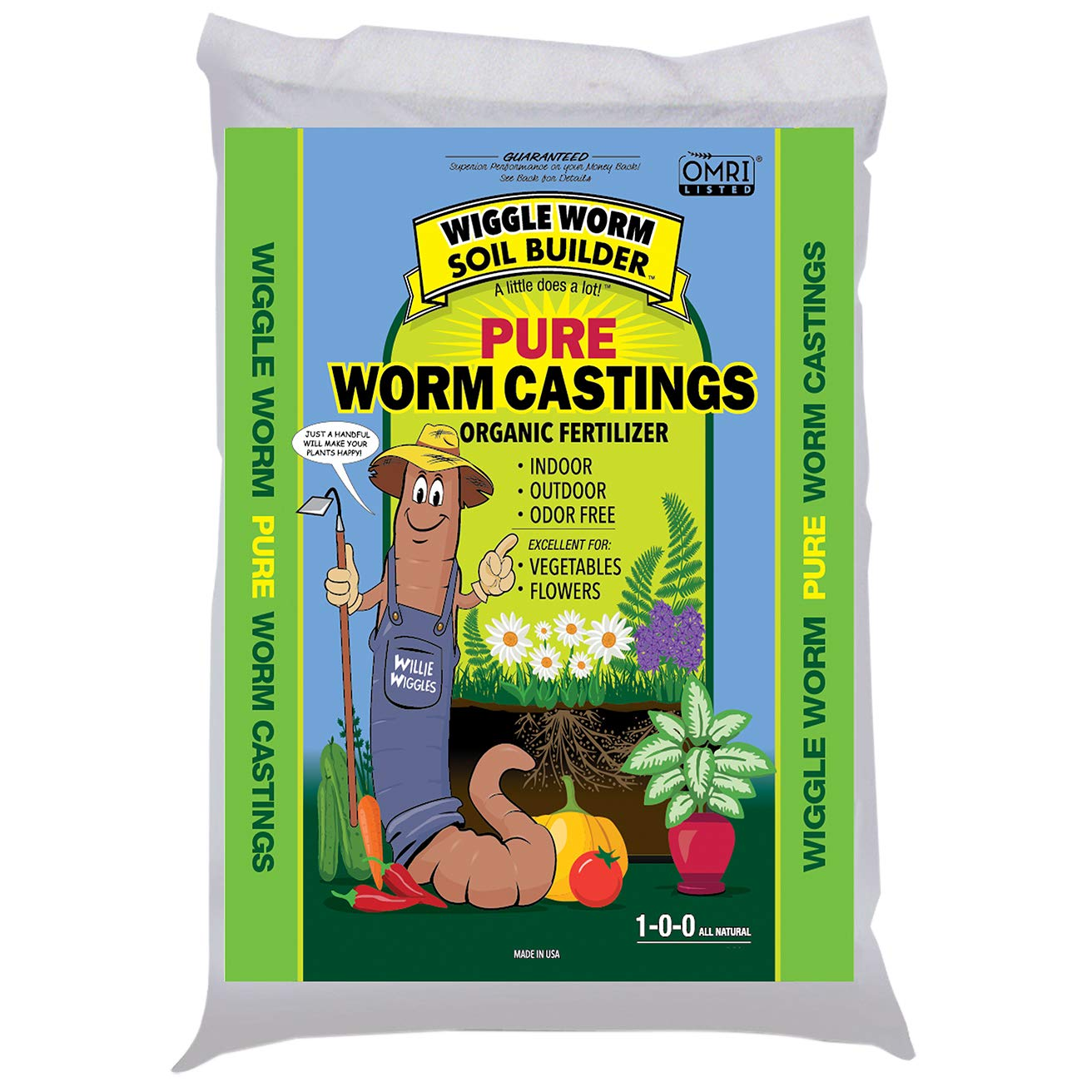 Wiggle Worm WWSB30LB Unco Industries Builder Worm Castings, 30 lb Compost, Soil, 30-Pound by Wiggle Worm