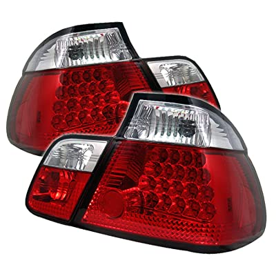 Spyder BMW E46 3-Series 99-01 4DR LED Tail Lights - Red Clear: Automotive
