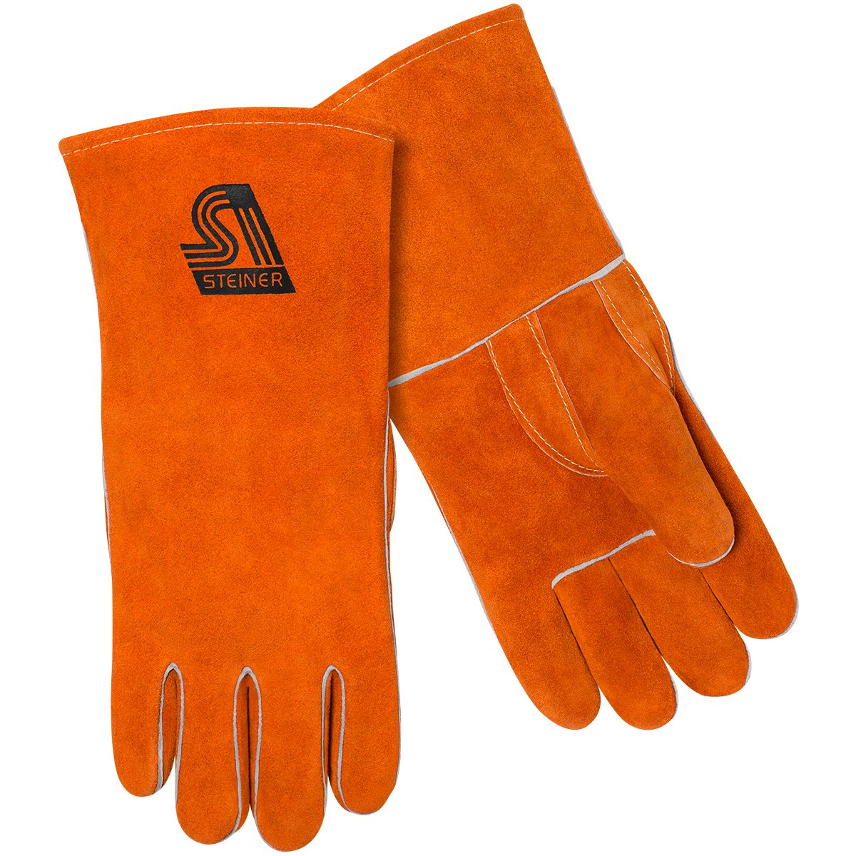 Steiner 2110Z-X Cotton Lined Straight Thumb Shoulder Split Cowhide Stick Welding Gloves, 14'' Long/X-Large (12-Pack)