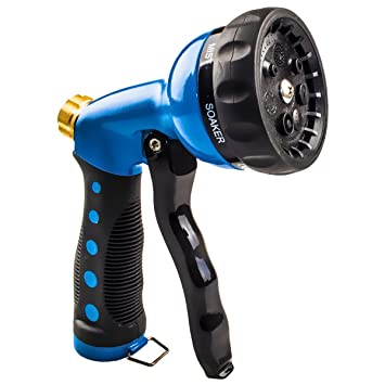 garden hose spray nozzle. HOMWE Improved All Metal Garden Hose Spray Nozzle - Ideal For Washing Dogs, Pets And E