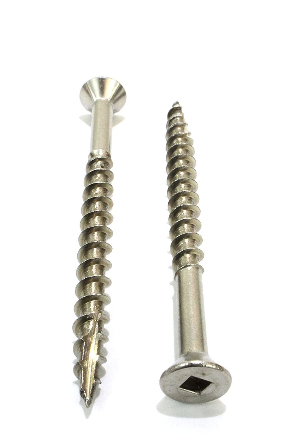 Hidden Fasteners. Type 17 Wood Cutting Point Stainless Steel #8 x 1-1//4 Stainless Deck Screws, Square Drive 100 Pack by Bolt Dropper 305 18-8