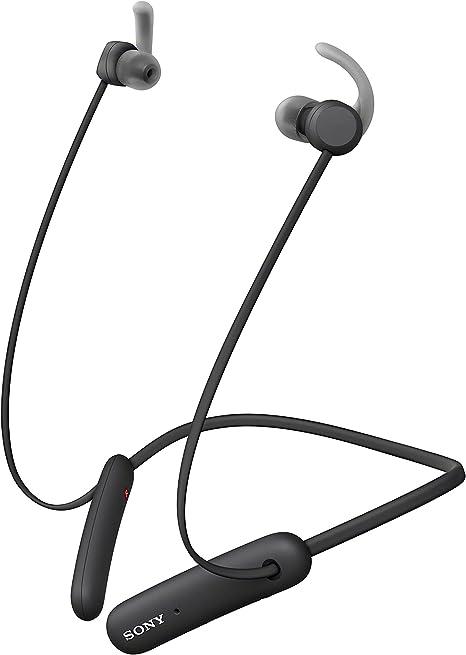 Sony WISP510B - Auriculares inalámbricos Deportivos (15 h de batería, Resistencia IPX5, diseño Neckband, Recoge Cable magnéticamente, soporta ARC, Micro para Llamadas Manos Libres) Negro: Amazon.es: Electrónica