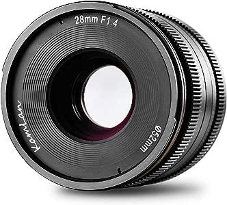 Kamlan 28 mm F1.4 APS-C Lente de Enfoque Fijo Manual de Gran ...