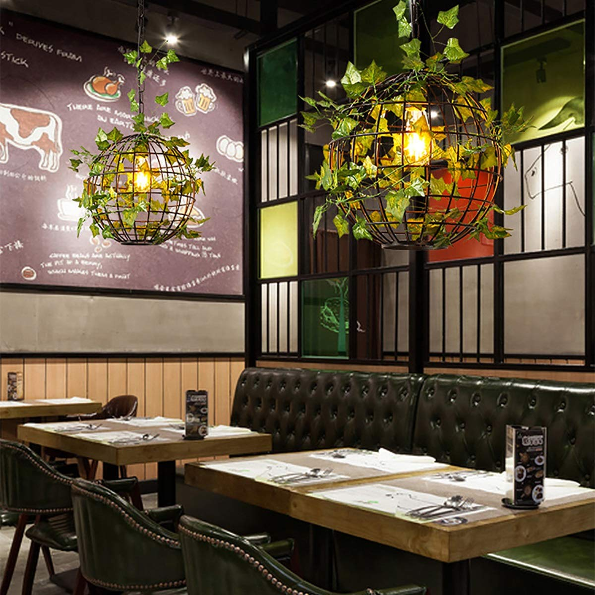 Baianf Creative Plant Chandelier Earth Chandelier para Restaurante ...