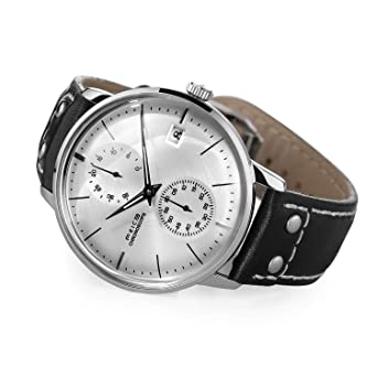 FEICE Mens Automatic Watch Mechanical Watch Stainless Steel Leather Band Watches Analog Curved Mirror Brushed Finish Casual Dress Watches for Men #FM212