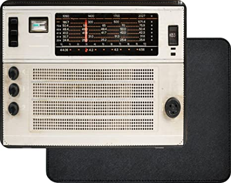 Amazon.com : Rikki Knight Vintage Retro Radio Design Faux Leather ...