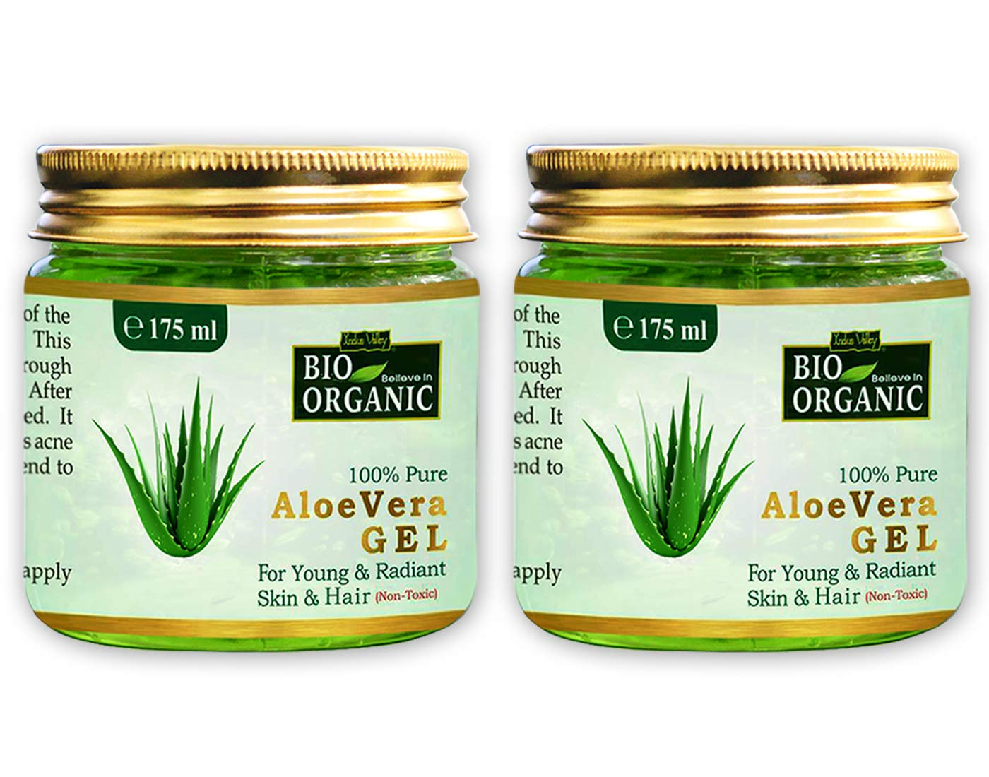 Indus valley 100% Natural, Pure Aloe Vera Gel for Skin and Hair (Set of 2, 175ml/Pc.) product image