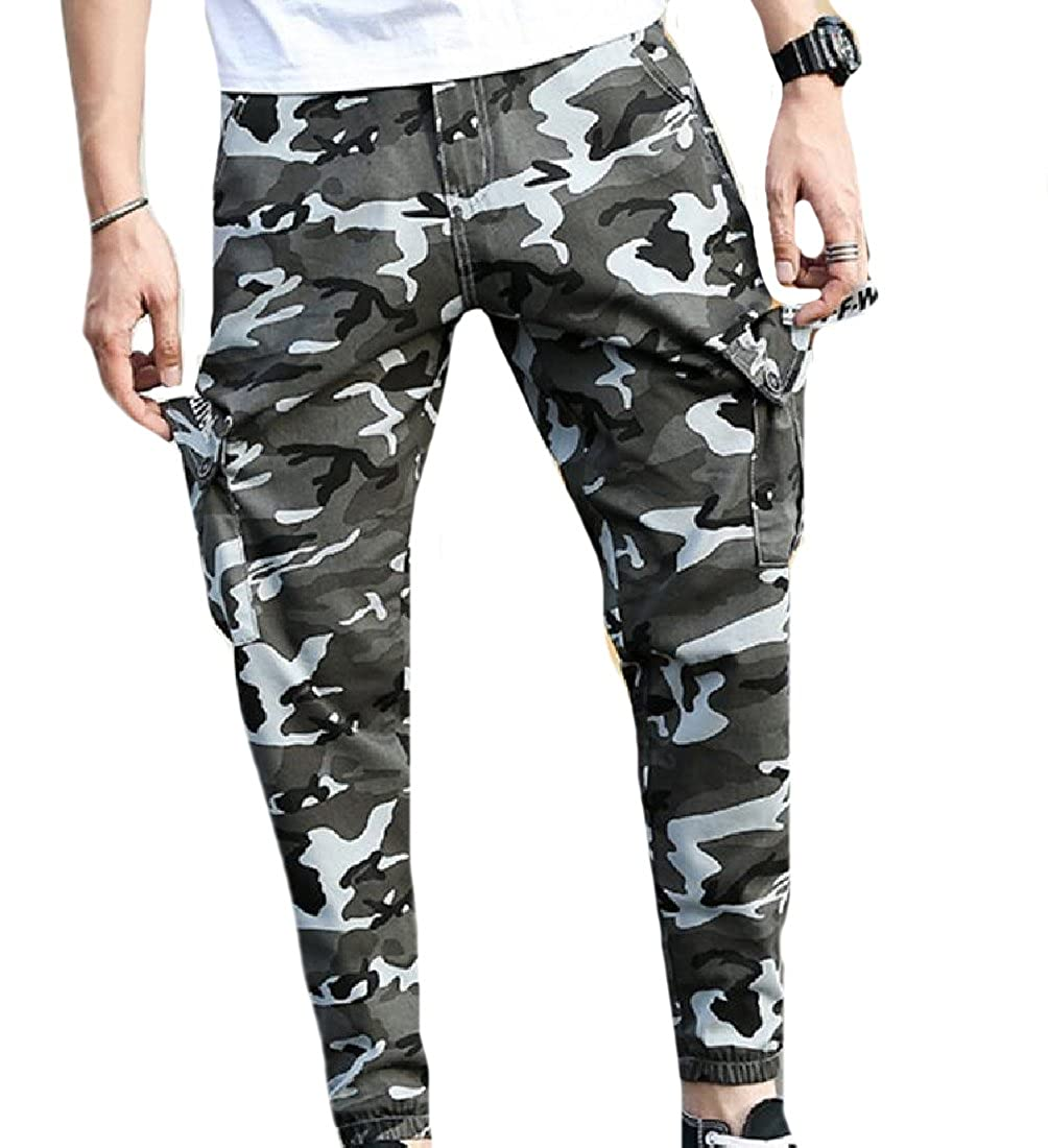 58986890e4ace Sexybaby Men's Side Pockets Camo Cargo Work Breathable Harem Pant at Amazon  Men's Clothing store: