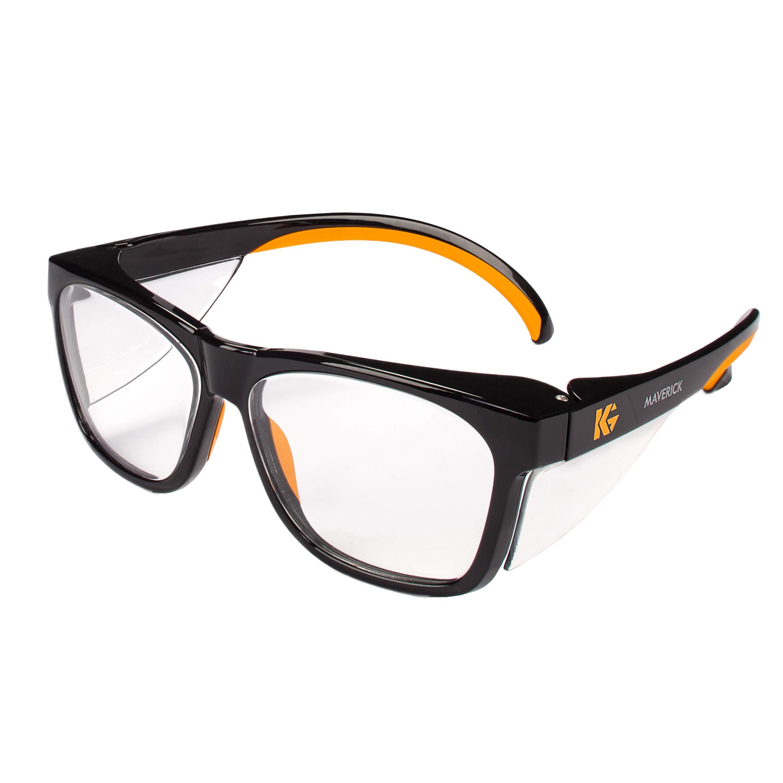 Kleenguard 49312 Maverick Safety Glasses, Black (Pack of 12)
