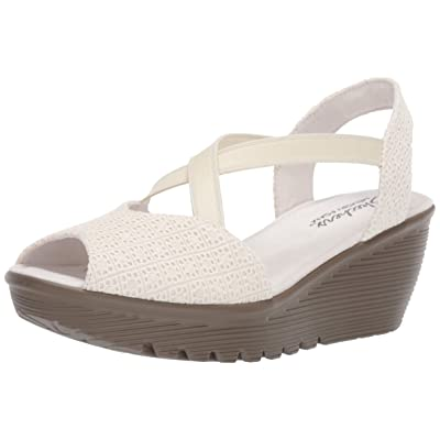 Skechers Women's Parallel - Peep Toe Gore Slingback Wedge Sandal | Platforms & Wedges