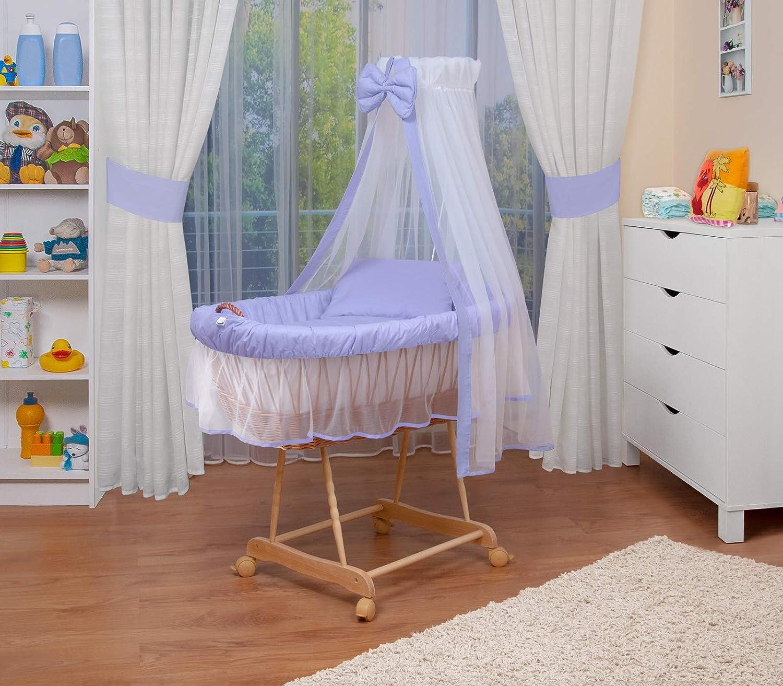 WALDIN Landau/berceau pour bébé complet,8 modèles disponibles,couleur du tissu beige/jaune, Cadre/Roues non traitée