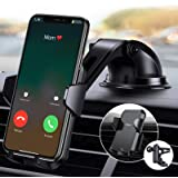 4 in 1【Ultra Sturdy】 Phone Holder for Car, Anwas【No Block Your View】 Dashboard & Air Vent & Windshield Car Phone Mount…