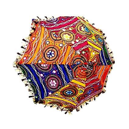 itsindiancrafty Wholesale Lot of 3 PC Traditional Indian Designer Handmade Rajasthani Umbrella