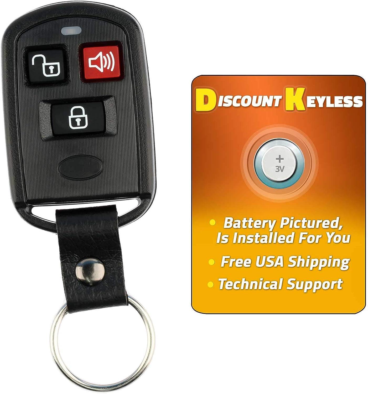 Fits 2003 2004 2005 2006 Hyundai Elantra Keyless Remote Car Key Fob OSLOKA-240T