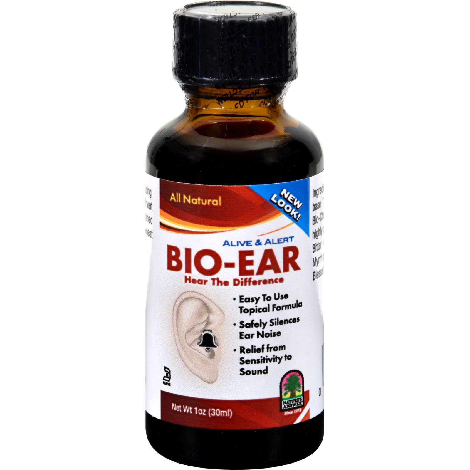 Natures Answer Alive and Alert Bio-Ear - Relief from Sensitivity to Sound - All Natural - 1 fl oz (Pack of 2)
