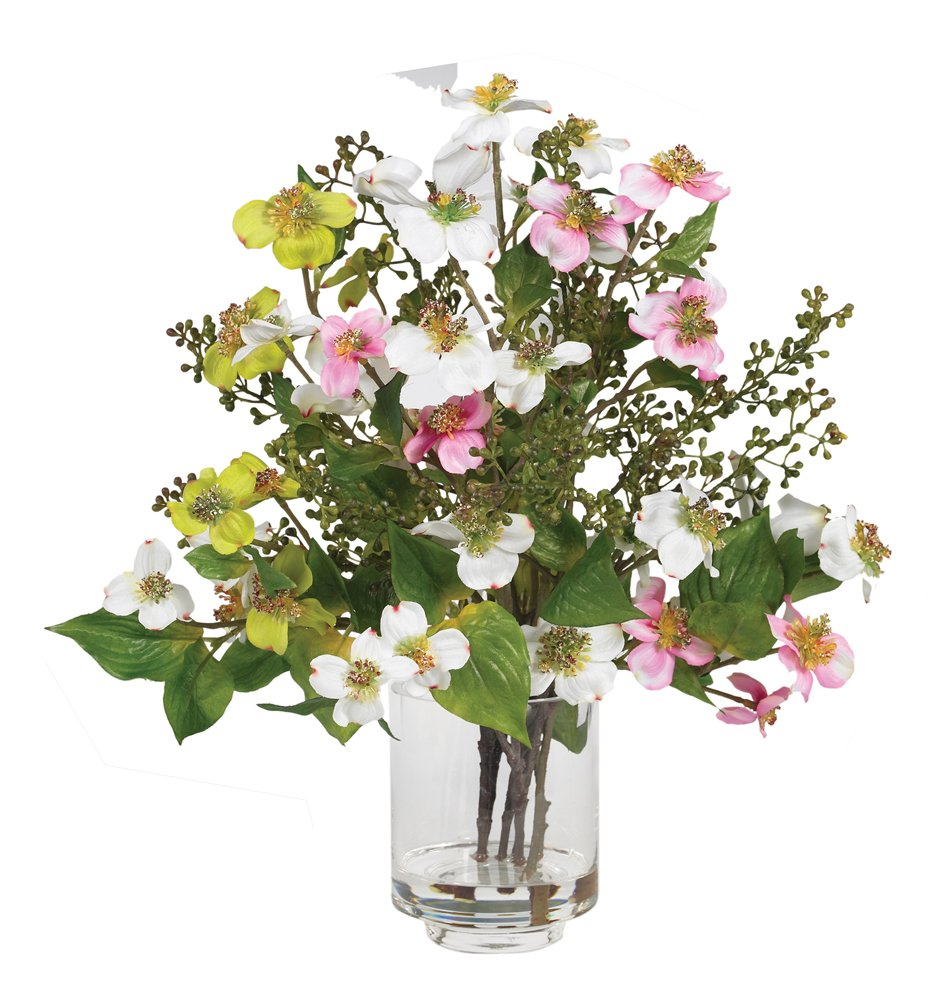 Amazon Nearly Natural 4687 Dogwood Silk Flower Arrangement