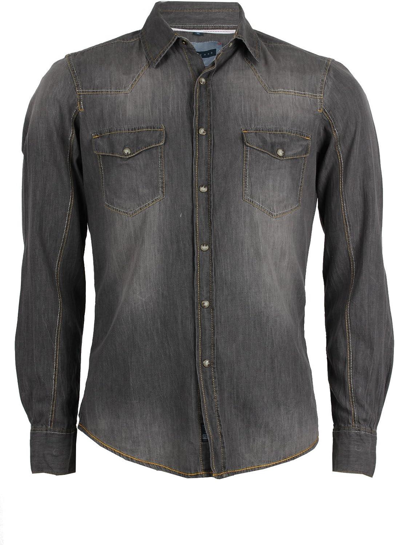 Camisa Jeans Thor gris Slim Fit