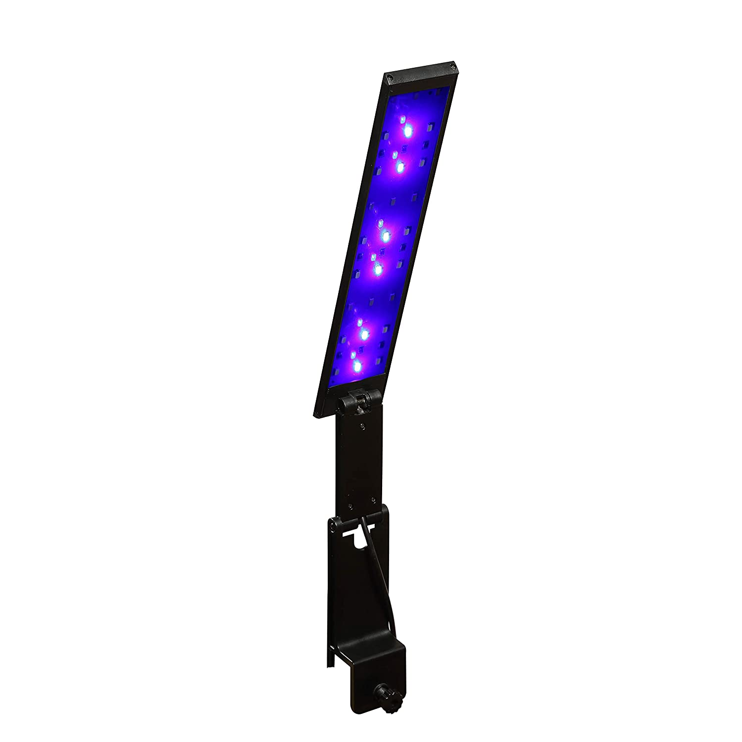 7W J-star Newest LED Aquarium Light with Dimming Modes bluee and White Light Aquarium Clip Light for Fish Tank Plant Growth Lamp (7W)