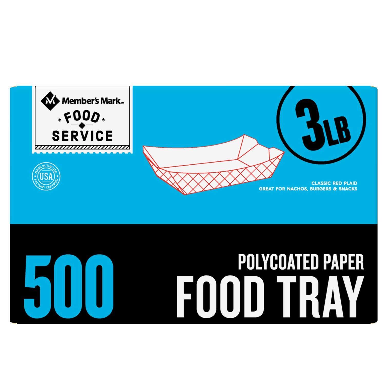 Member's Mark 3 lb. Capacity Food Tray (500 ct.)
