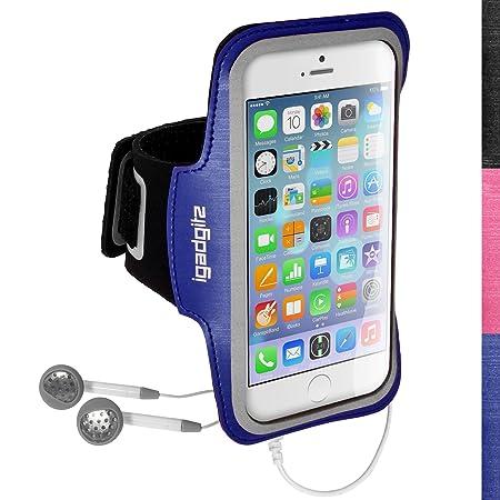 igadgitz U3158 Stirnband-Arme Sport für Apple iPhone 6 & 6S 4.7 Armband – Schwarz